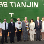 Rickmers-Linie's latest vessel named Rickmers Tianjin in the port of Mumbai