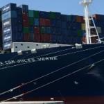CMA CGM inaugurates 16,000-TEU ship Jules Verne