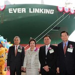 Evergreen's newest 8,508-TEU ship named Ever Linking