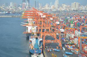 Officials at the Manila International Container Terminal deny claims that there is congestion at its facility. Photo courtesy of International Container terminal Services, Inc.