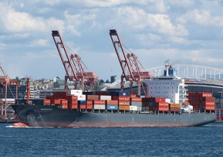 container ship bullish