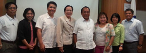Philippine International Seafreight Forwarders Association (PISFA) courtesy call on Subic Bay Metropolitan Authority (SBMA) chairman Roberto Garcia. From L to R: Tony Ramos, administration and finance manager of Subic Bay International Terminal Corp (SBITC), PortCalls publisher Liza Almonte, PISFA vice-president Erich Lingad, SBMA senior deputy administrator for Regulatory Group Atty Jocelyn Alvarado, Chairman Garcia, PISFA president Mariz Regis, PISFA director Doris Toris and SBITC general manager Reimond Silvestre. SBITC operates Subic's New Container Terminals 1 and 2.