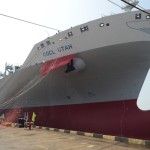 OOCL orders six 20,000-TEU ships, christens 8,888-TEU newbuild