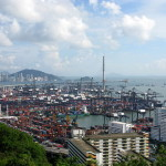 HK port box traffic goes slack in Q2 and H1
