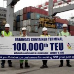 Batangas box terminal hits 100,000-TEU mark
