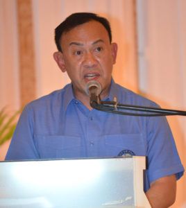 Cebu Port Authority general manager Edmund Tan at the first Visayas Shipping Conference 2016