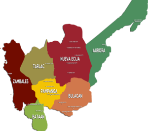 Region 3 map from nro3.neda.gov.ph