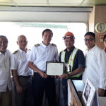Evergreen's new KTP service makes maiden call at Subic