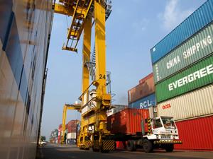 Manila South Harbor. Photo courtesy of port operator Asian Terminals Inc.
