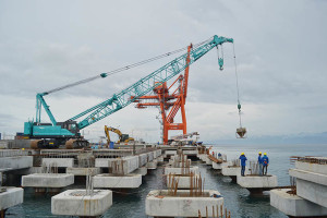 construction of DICT's Berth 2 was about 53% complete and that the berth will be operational by July 2016.