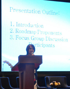 Philippine International Seafreight Forwarders Association, Inc. (PISFA) president Doris Torres presented the Philippine Multimodal Transport and Logistics Roadmap at the Asia Logistics Forum 2015