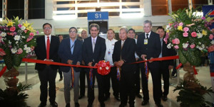 The send-off ceremony held at the NAIA Terminal 2 on January 17 was attended by PAL president and chief operating officer Jaime J. Bautista and Kuwaiti Ambassador to the Philippines Waleed Ahmad Al Kandari. Joining them were, from left to right, PAL VP-Sales Ryan Uy, PAL SVP-Airline Operations Ismael Augusto Gozon and NAIA T2 general manager Enrico Gonzalez. Witnessing the ribbon cutting were, from left to right, PAL SAVP-International Sales Bong Velasquez, PAL SAVP-Philippine Sales Harry Inoferio, PAL AVP-Airport Services Audie Villanueva and PAL VP-Security Cesar Ronnie Ordoyo.