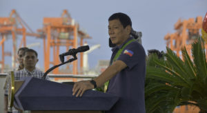 Philippine President Rodrigo Duterte has inaugurated Davao International Container Terminal, which recently completed its P5-billion expansion program. The expansion increases the container terminal's handling capacity from 300,000 twenty-foot equivalent units (TEUs) to 800,000 TEUs. Photo courtesy of DICT.
