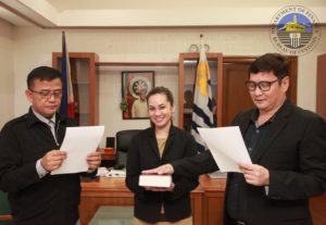 At the oath taking of new