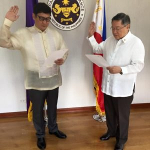 Lawyer Edward James Dy Buco has been sworn into office as deputy commissioner of the Assessment and Operations Coordinating Group (AOCG) of the Bureau of Customs (BOC) by Finance Secretary Carlos Dominguez III.