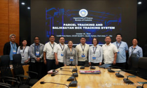 BOC online parcel and balikbayan box tracking system