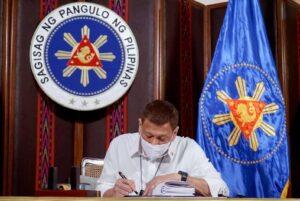 Bayanihan Law signing